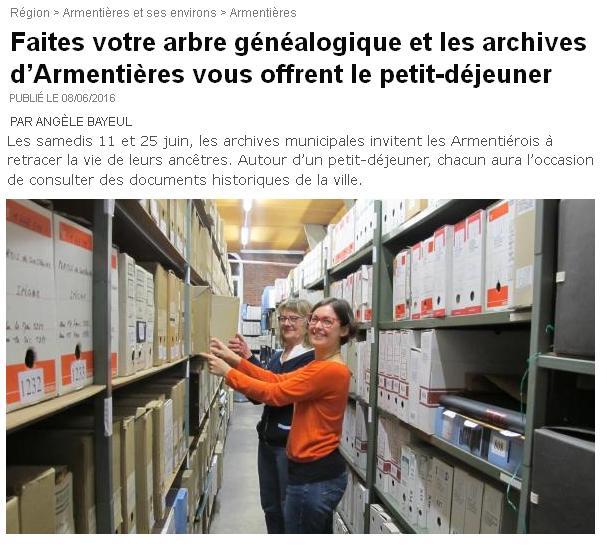 Archives d'Armentière