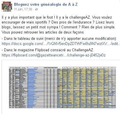 Challenge 2016 de A à Z