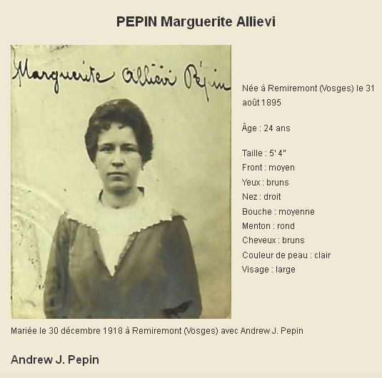 P comme Pepin Marguerite Allievi