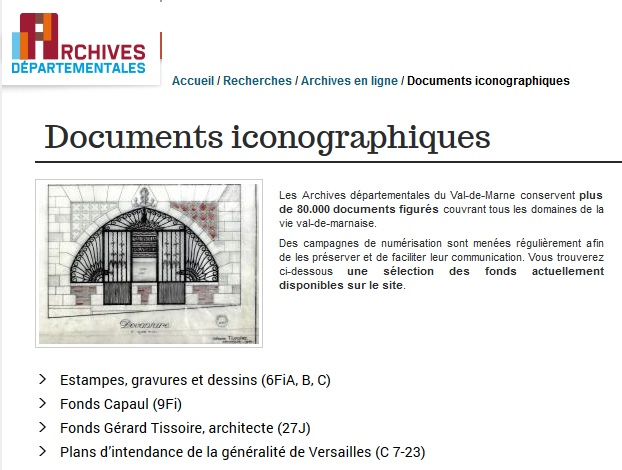AD 94 Documents iconographiques