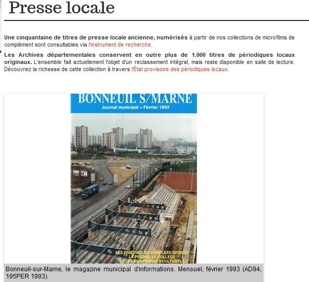 AD 94 - Presse  Locale