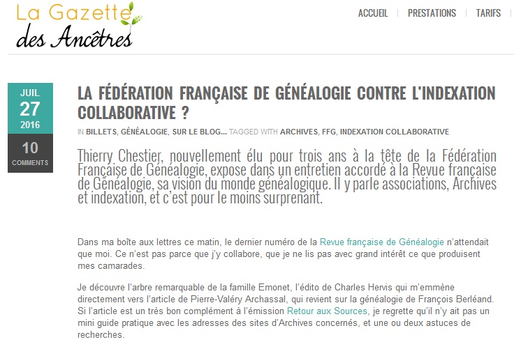FFG et l'indexation Collaborative