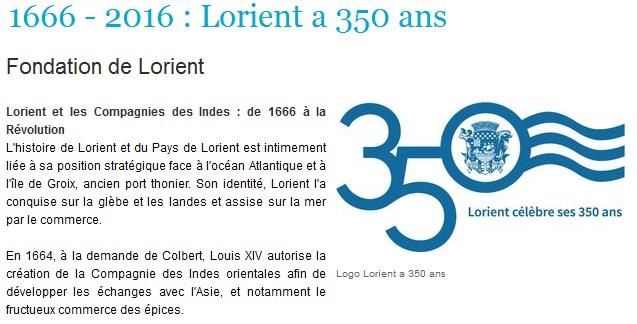 Lorient 350 ans