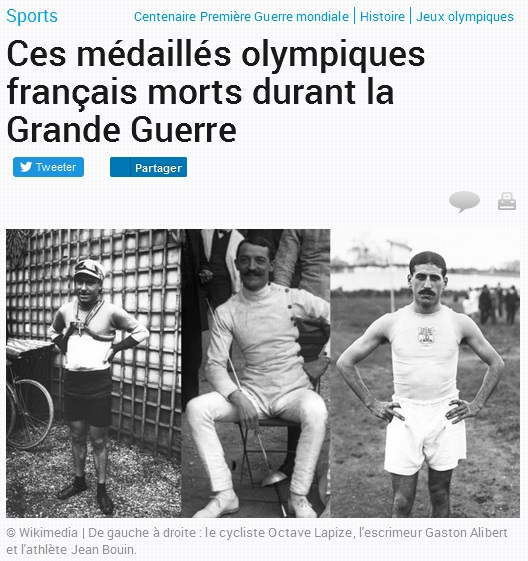 Medailles olympiques 14-18