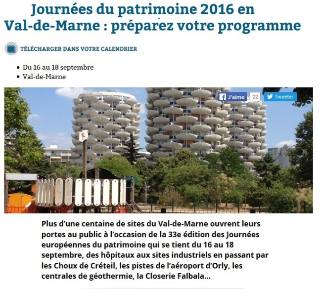 Jep 2016 journ es du patrimoine en val de marne cgma for 7 avenue du general de gaulle maison alfort