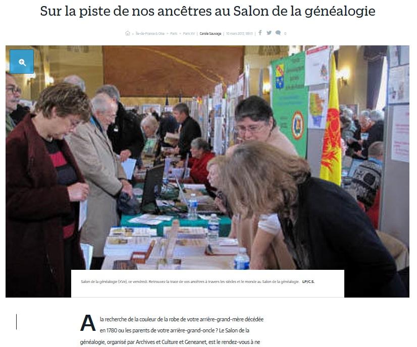 Salon de la g n alogie le parisien cgma maisons alfort - Salon de the parisien ...