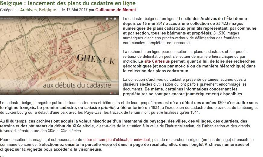 Cadastre belge en ligne cgma maisons alfort for Bar belge maison alfort