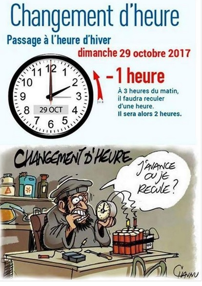 En avril on avance en octobre on recule cgma maisons alfort - Changement heure 2017 france ...